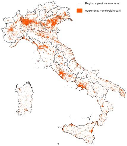 ISTAT agglomerati morfologici urbani 2001
