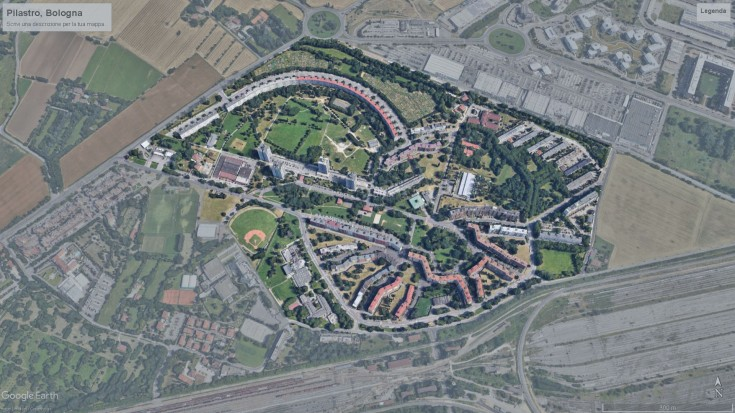 Quartiere Pilastro, coord. F. Santini, PEEP 1960-80, Bologna.